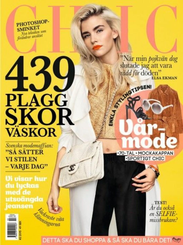 Elsa Ekman på omslaget av Baaam nr 2-2015. Foto: Nina Holma
