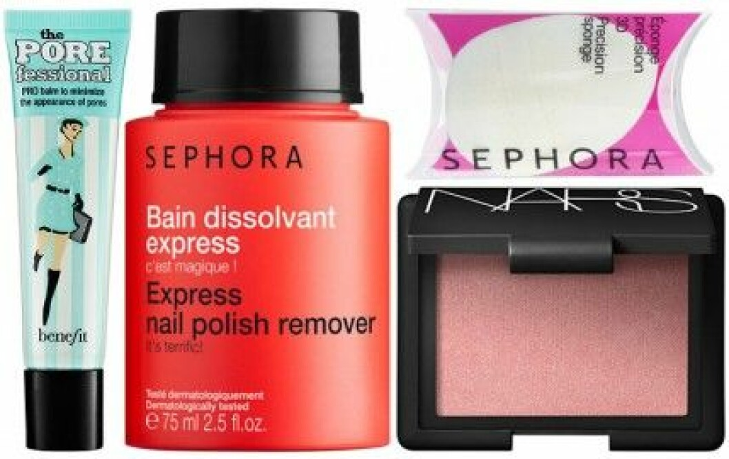 Fyra av Baaams skönhetsfavoriter från Sephora.