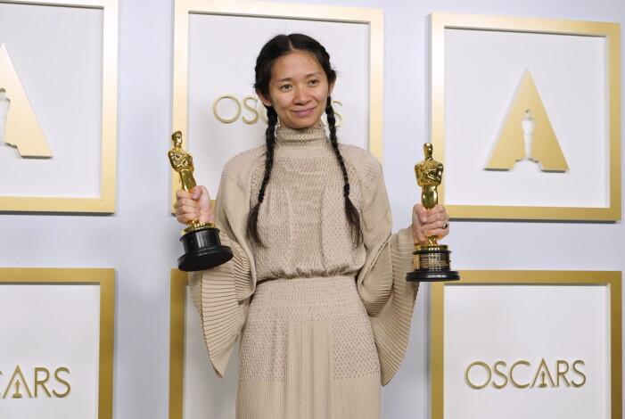 Chloé Zhao som blev historisk under Oscarsgalan 2021 när hon vann pris för bästa regi.