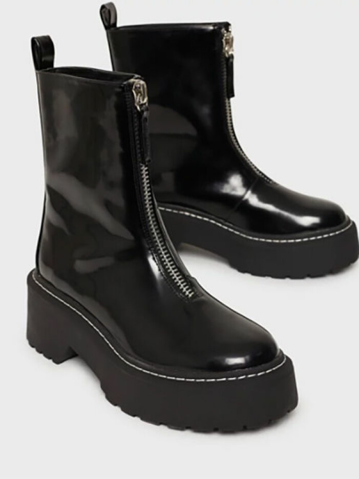 Chunky ankleboots med dragkedja, Missguided