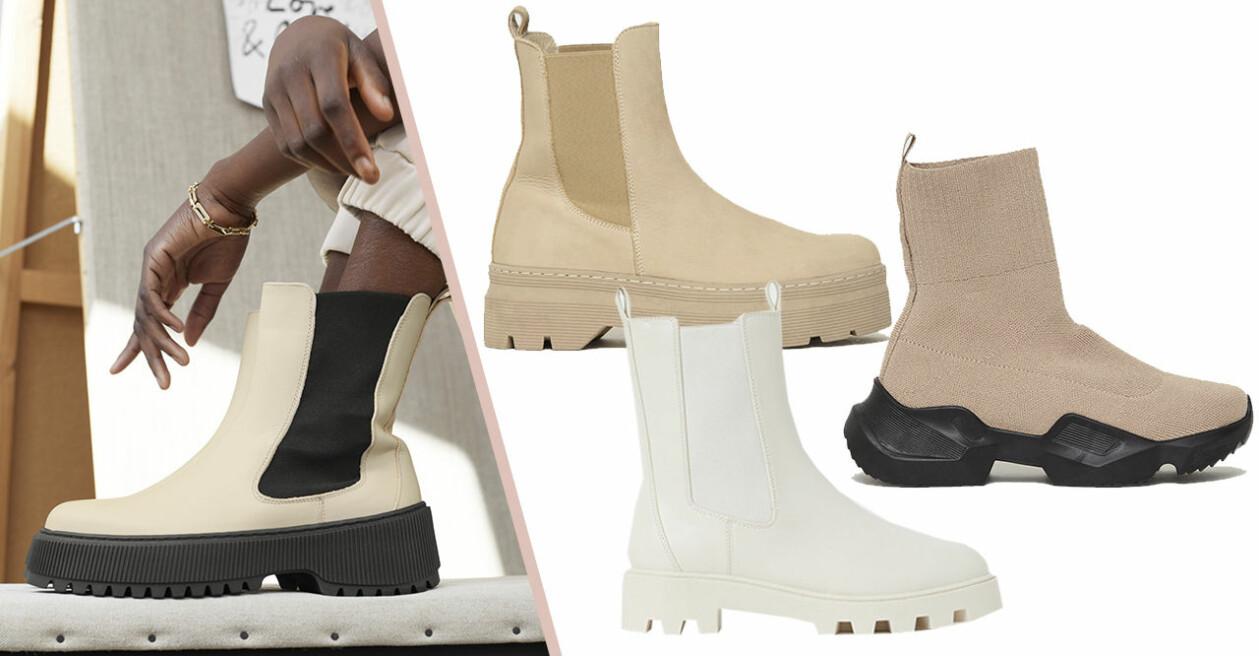 chunky boots ljusa nyanser