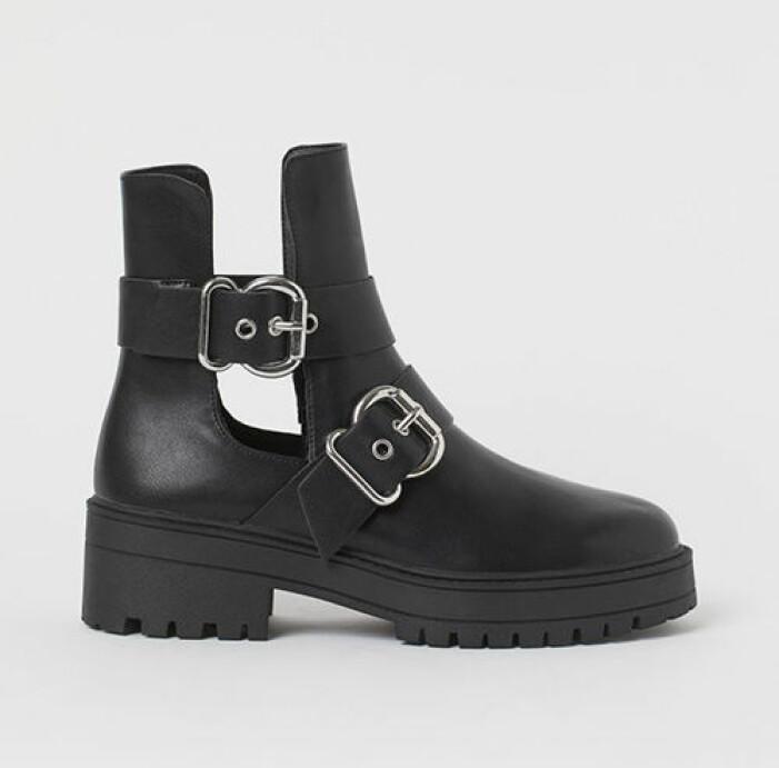 Chunky boots med spännen, H&M