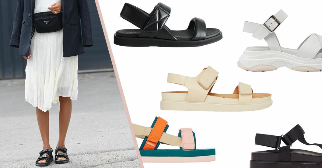 Chunky sandaler för dam till sommaren 2020