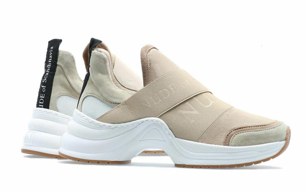 Beige chunky sneakers till våren 2019