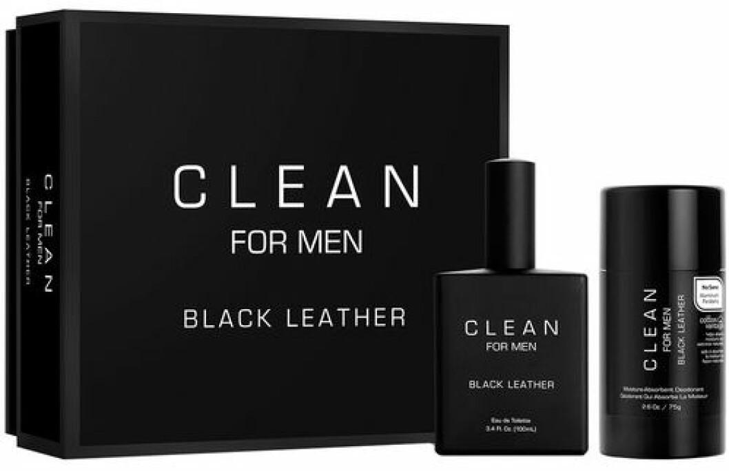 clean for men black leather kit