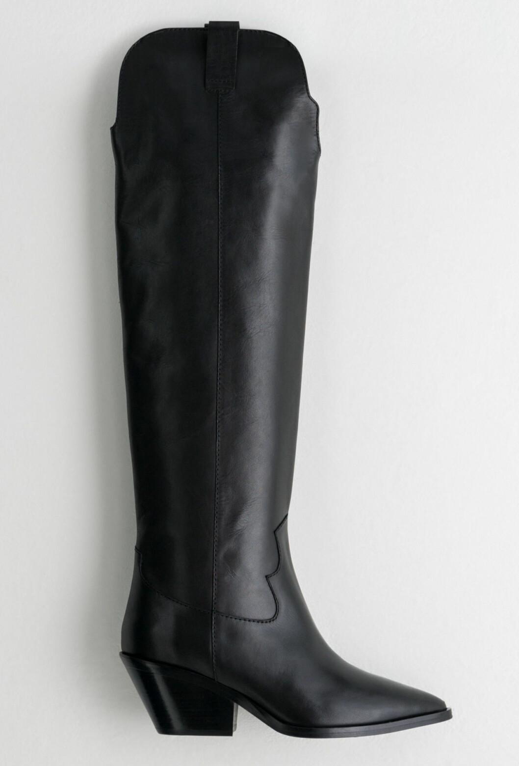Svarta cowboy-boots
