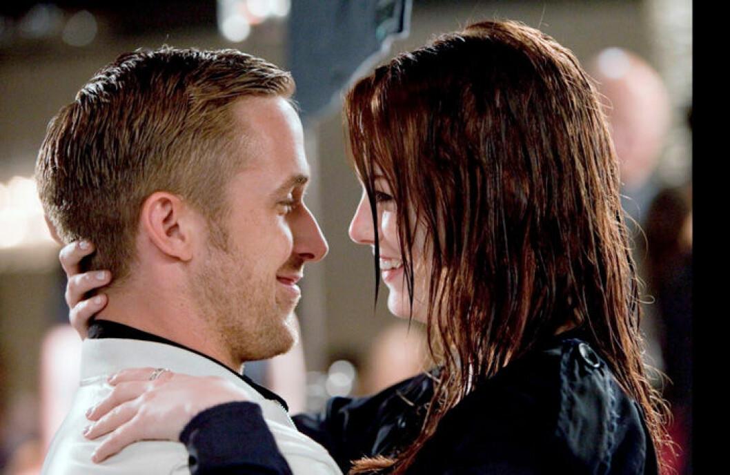 En bild på Ryan Gosling och Emma Stone, två av skådespelarna i Crazy Stupid Love.