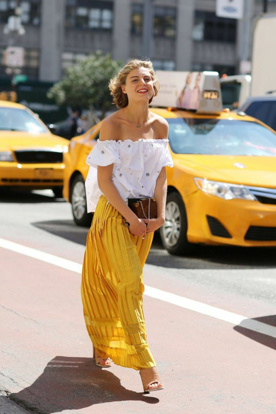 Street style cropped topp