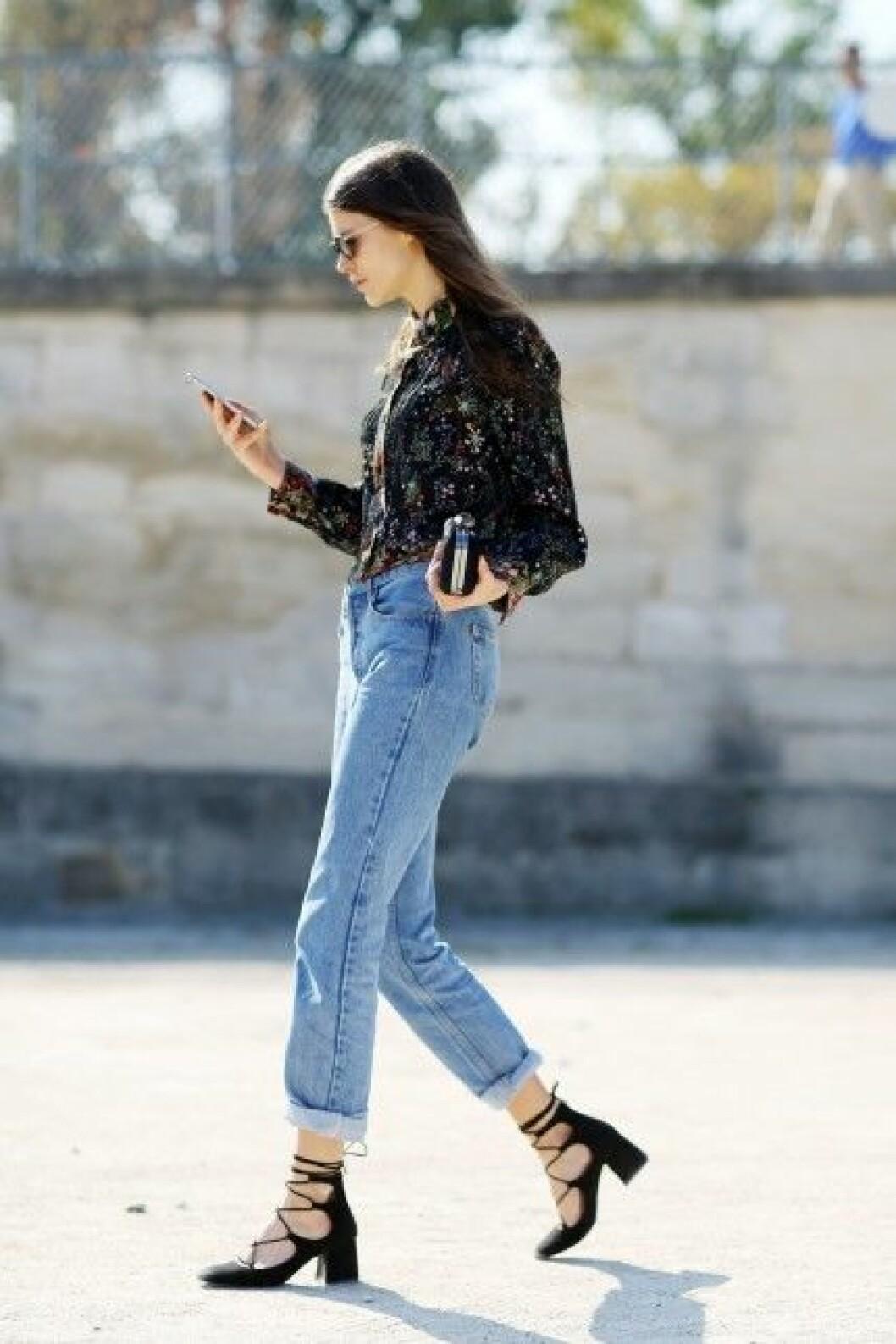 cropped jeans klackar