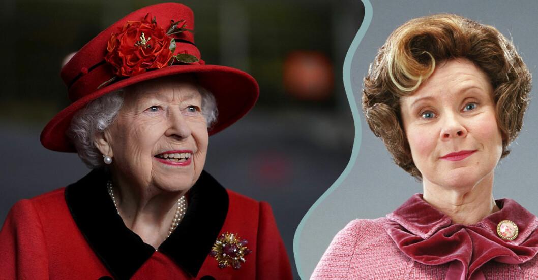 Drottning Elizabeth II och Dolores Umbridge.