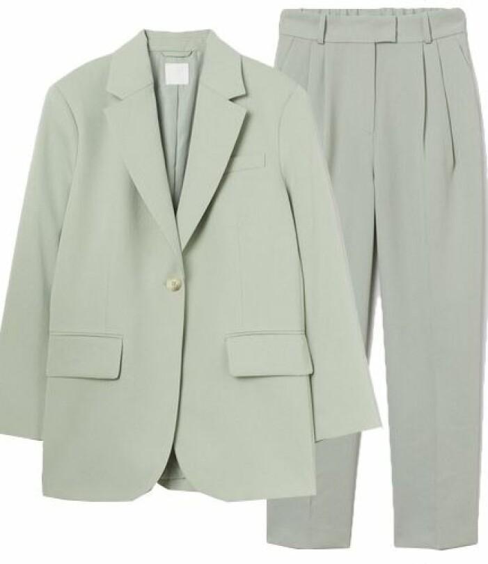 Grön oversize kostym för dam
