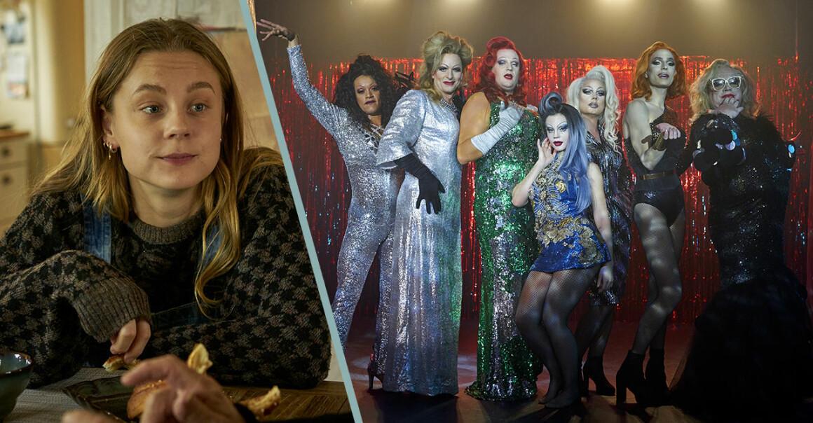 Molly Nutley och stillbild från filmen Dancing Queens