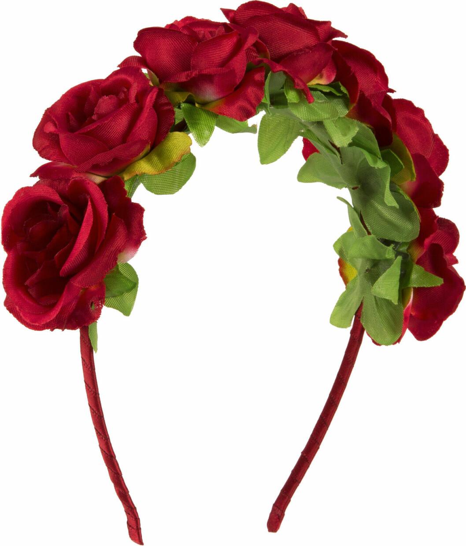 Diadem med röda rosor till midsommar