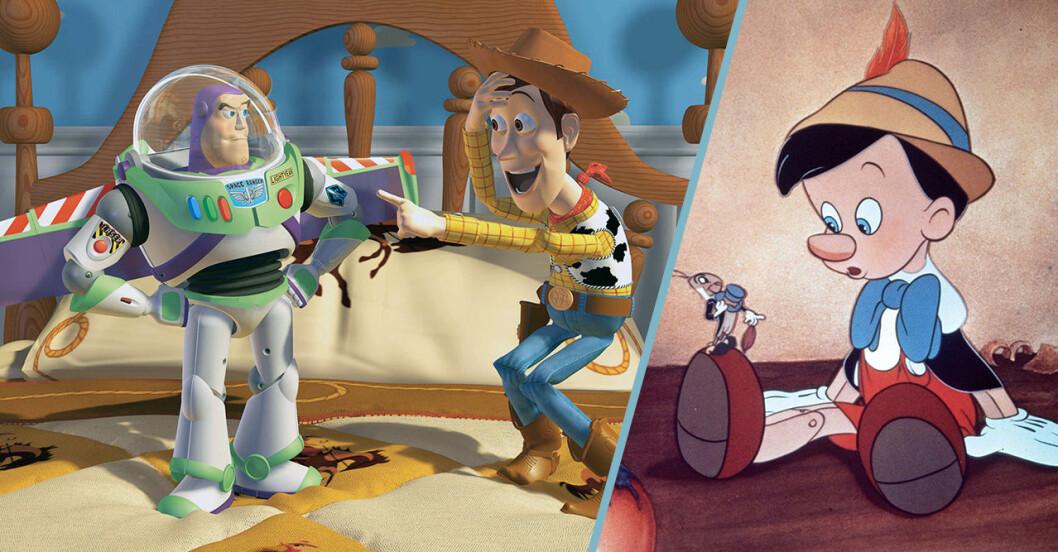 Toy Story och Pinocchio