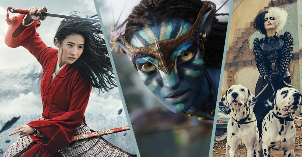 Nya Disney-filmer 2020, 2021 och 2022
