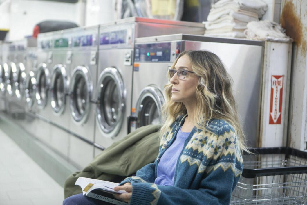 En bild på Sarah Jessica Parker som är med i tv-serien Divorce.