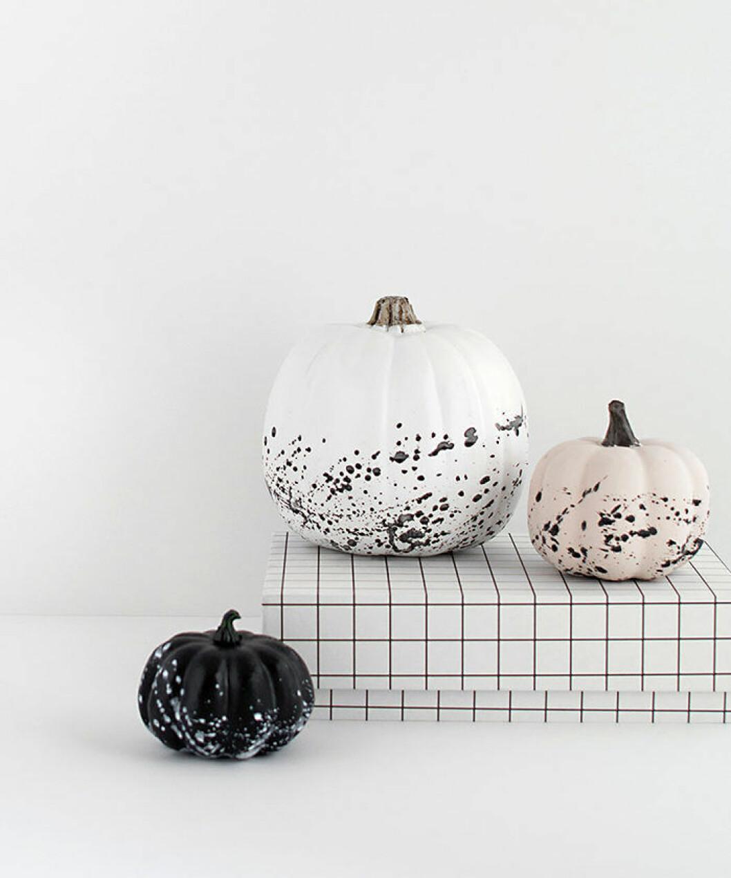 DIY-projekt med pumpor till halloween