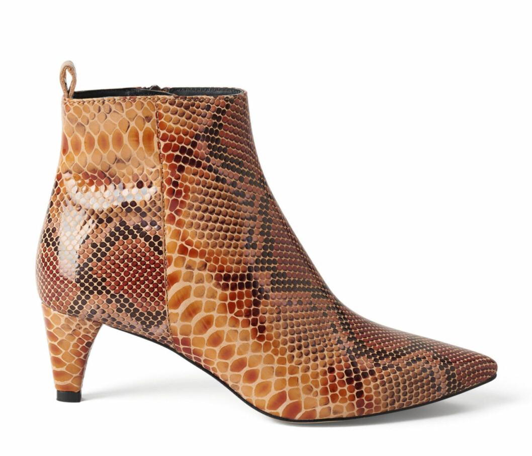 Ormskinnsmönstrade boots för dam till hösten 2019