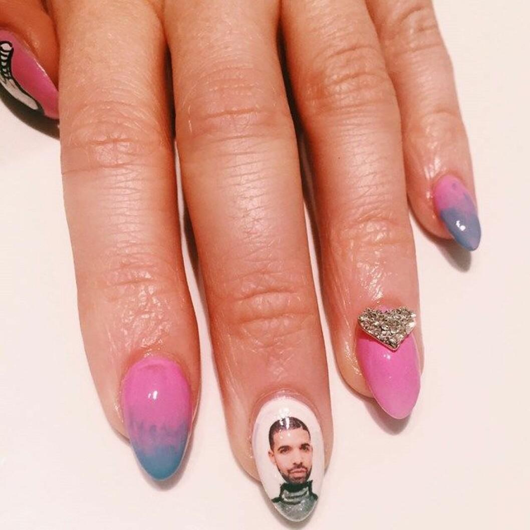 drake hotline bling naglar