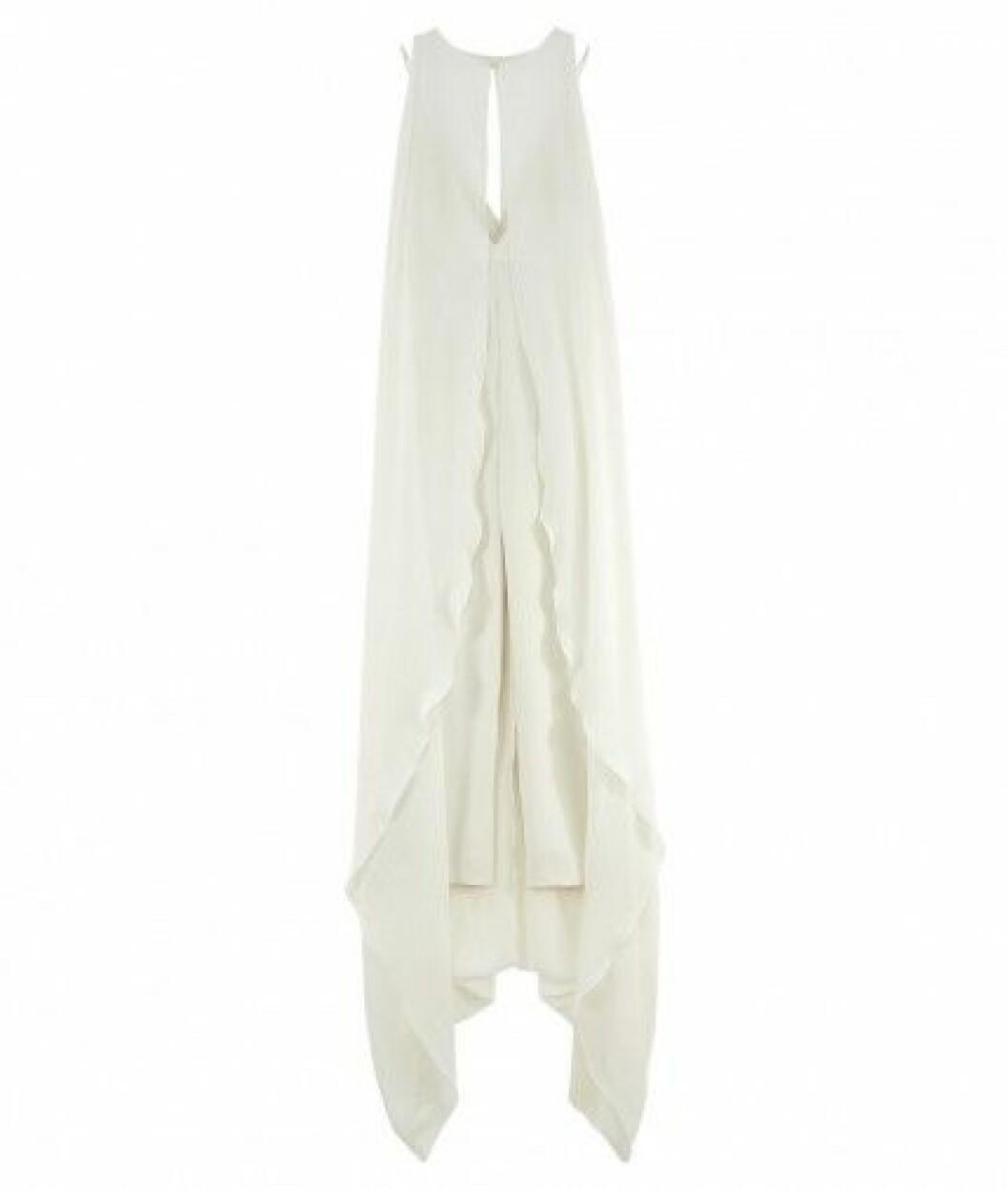 draperad brudklänning