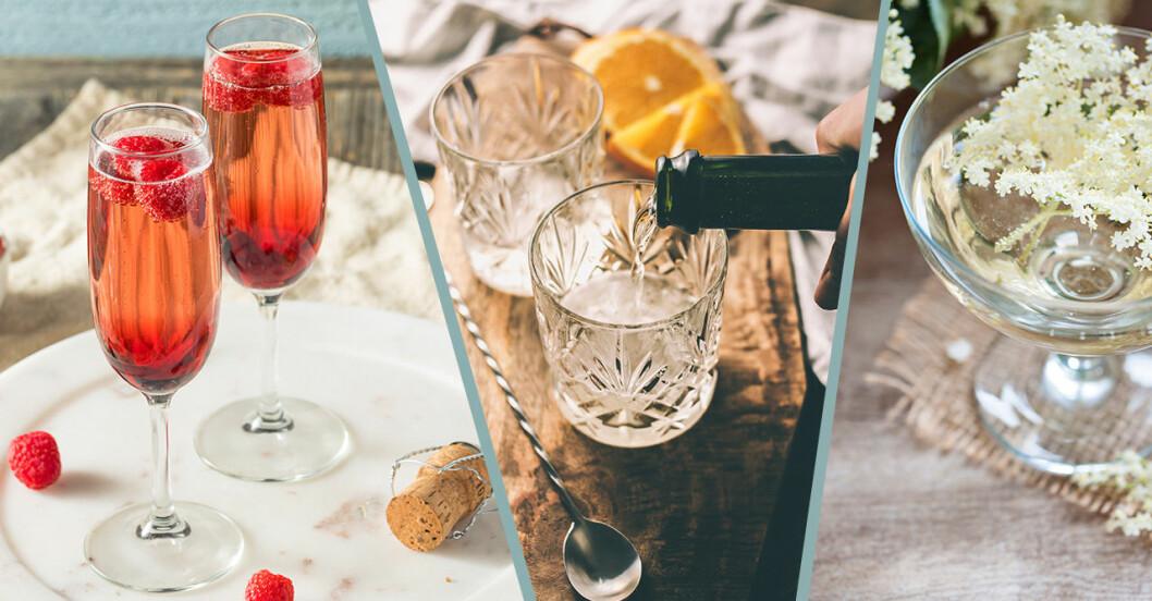 Goda drinkar med bubbel – fläder, limoncello, kir royale