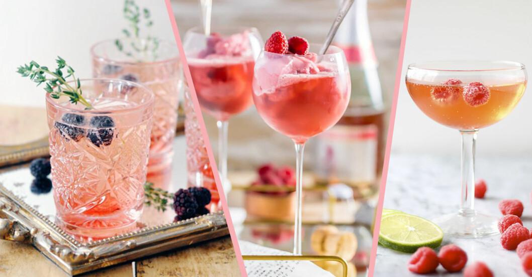 Drinkar rosa champagne