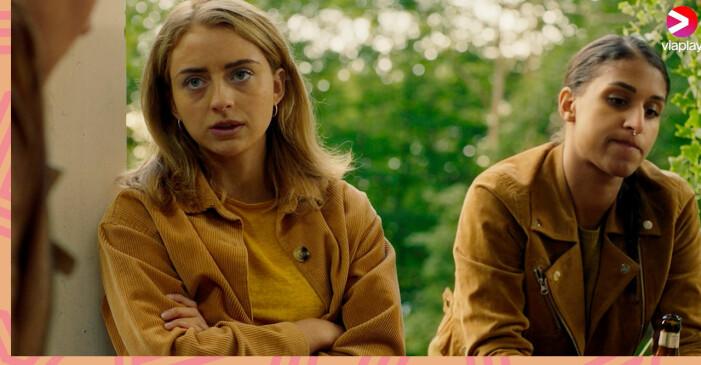 Happy Jankell och Lola Zackow i serien Dystopia.