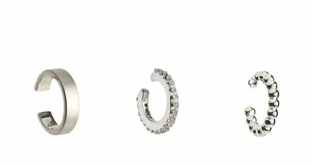Tre earcuffs i silver från Syster P