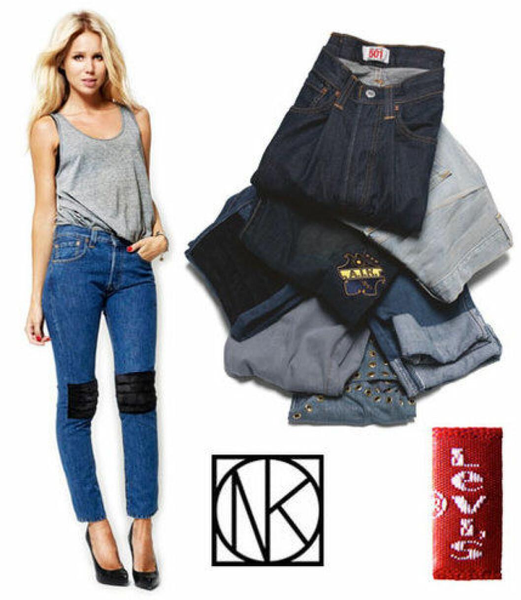 Elin Kling Levis NK jeans