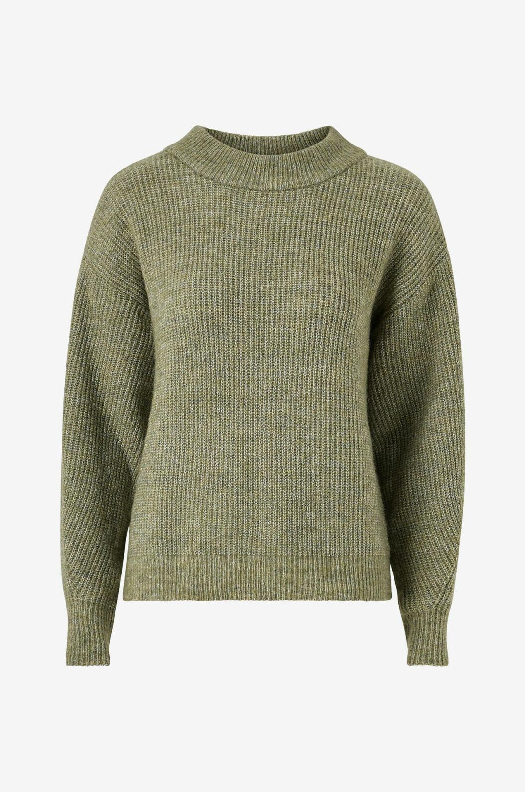 Grön stickad tröja från Ellos