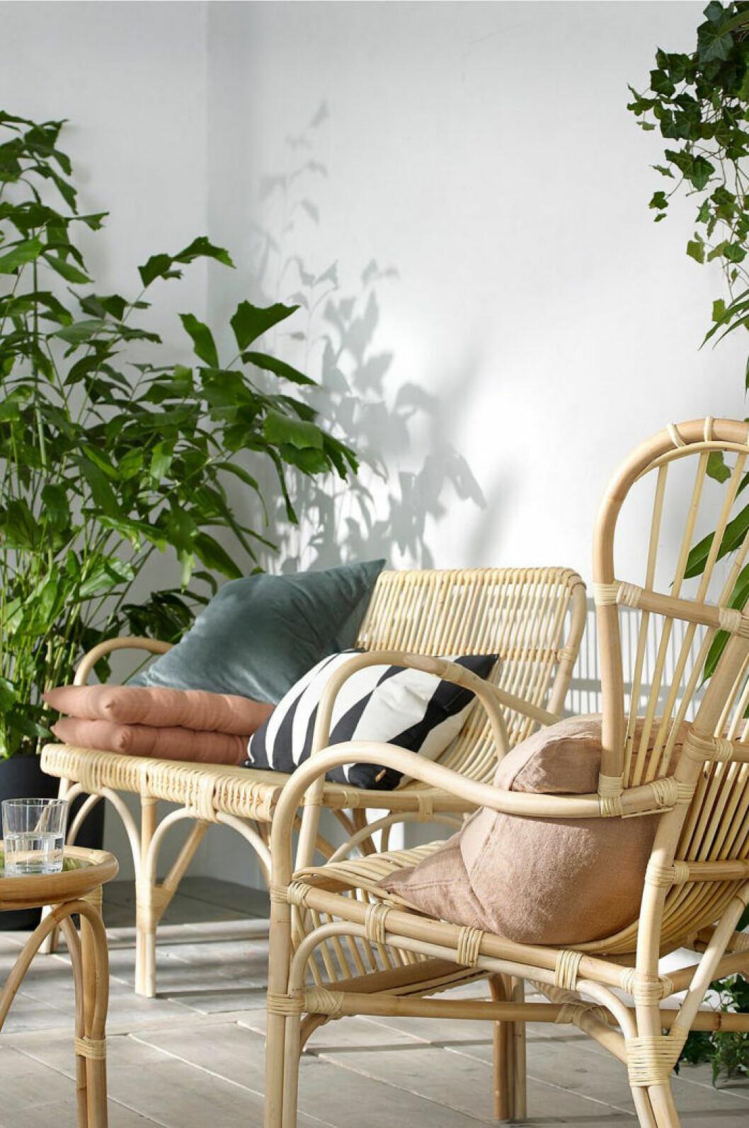 Trendiga utemöbler i rotting från ellos home 2019