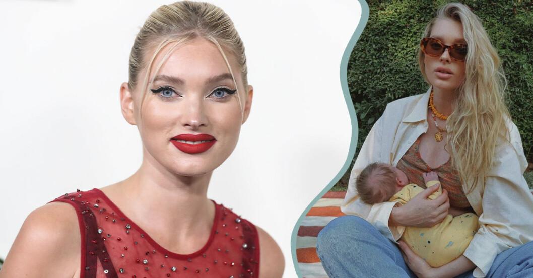 Elsa Hosk hyllas för nya amningsbilden med dottern.