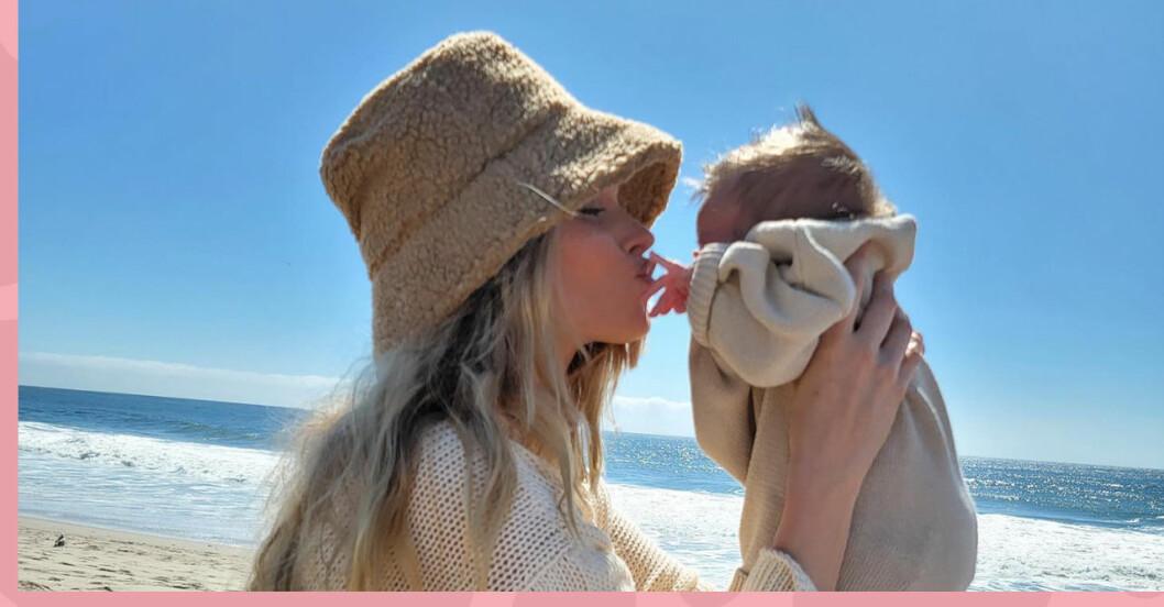 Elsa Hosk om sina tankar kring kroppen efter förlossningen