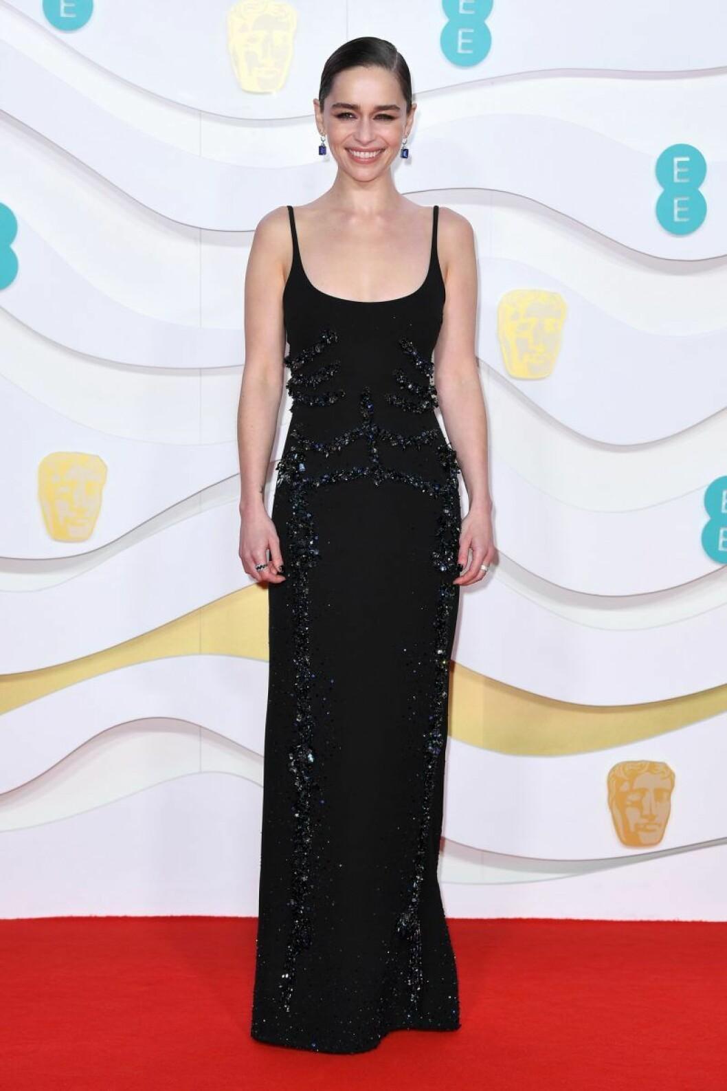 Emilia Clarke på Bafta-galan 2020.