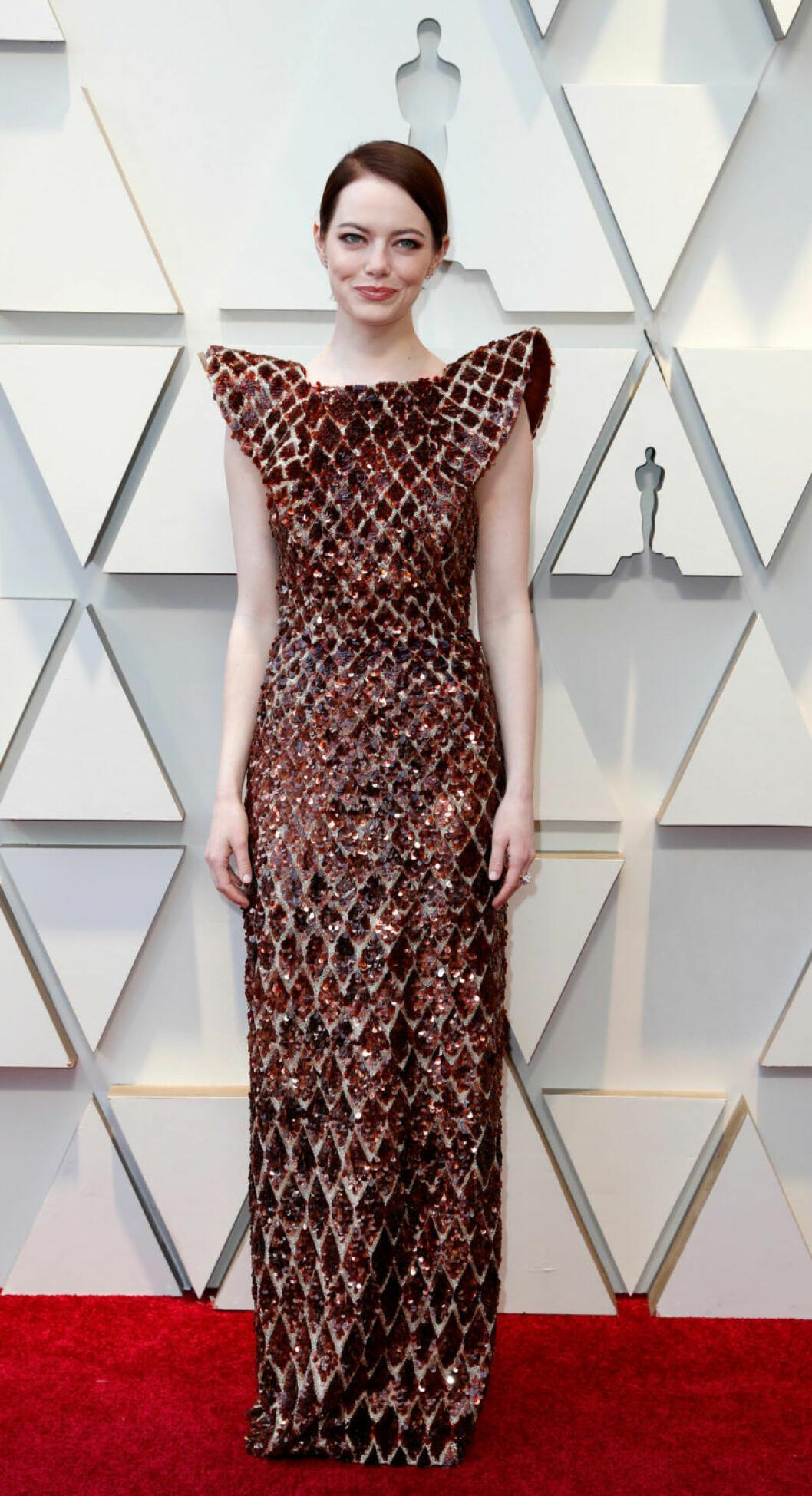 Emma Stone på Oscarsgalan 2019