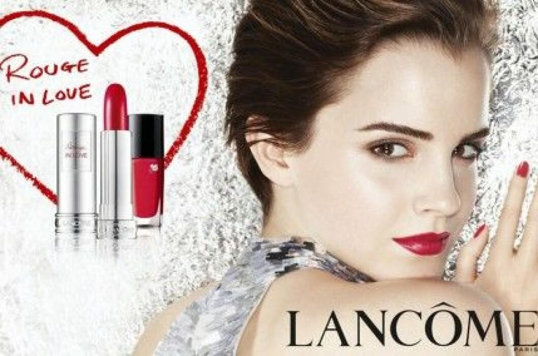"Emma Watson för ""Rouge in Love"" från Lancôme."
