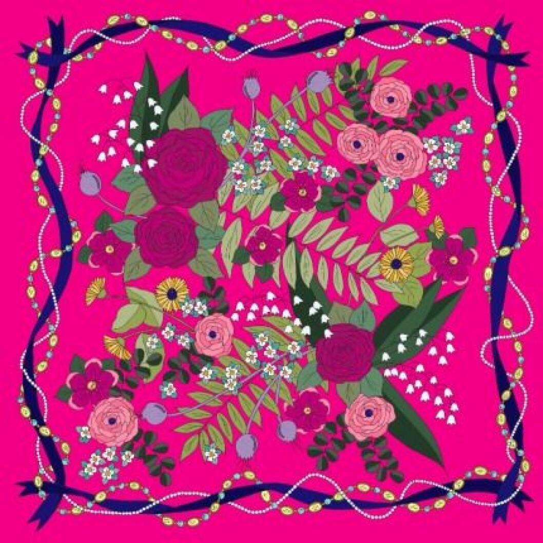 EmmaKisstina Silk Scarves, Floral.