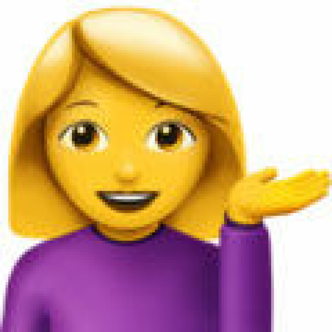 Emoji information desk person