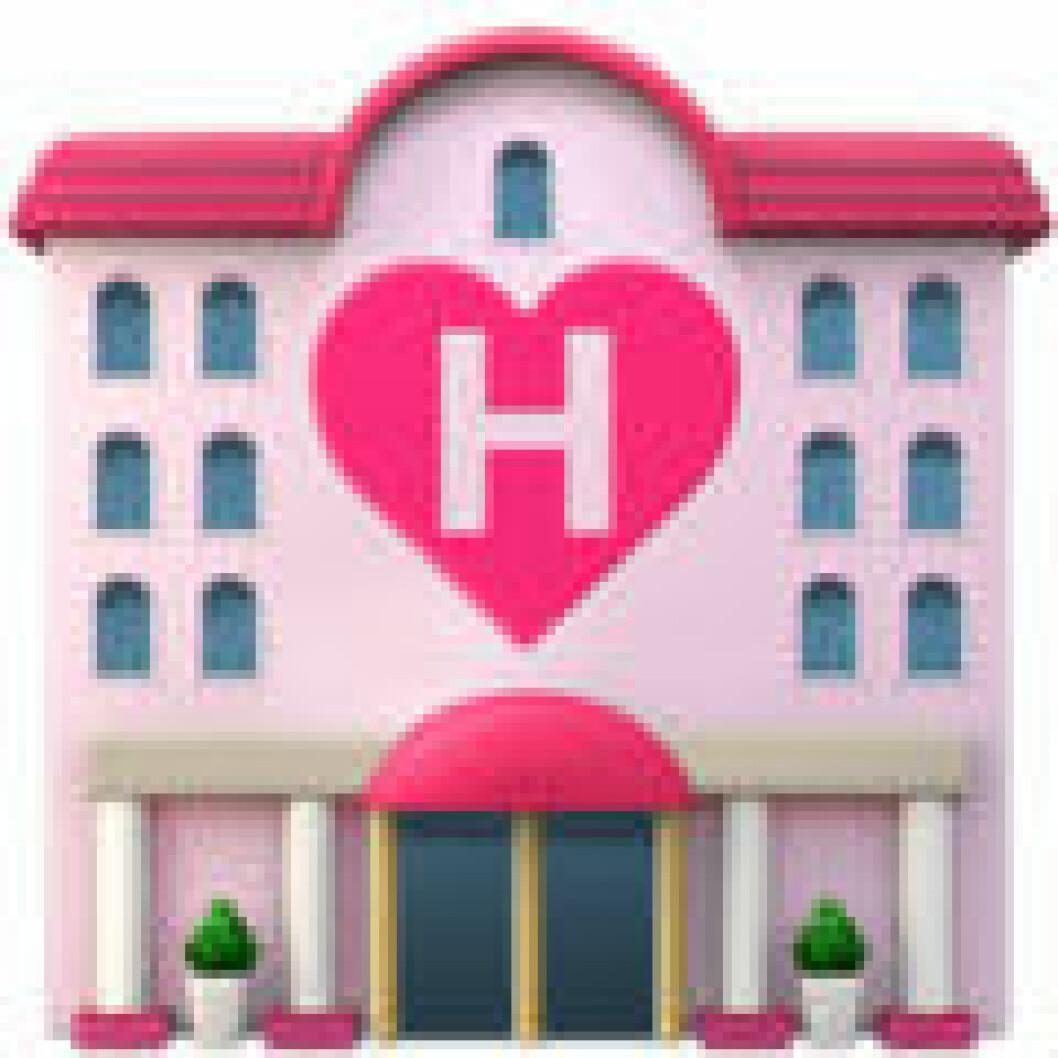 Emoji love hotel