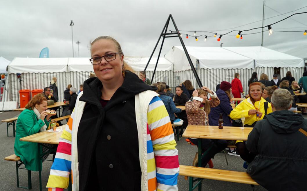 Ulrika Glingborn var en av besökarna på Statement festival.
