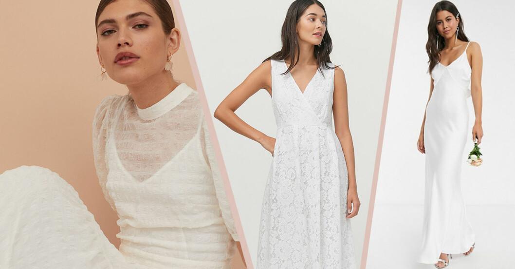 Enkel och billig bröllopsklänning till 2020