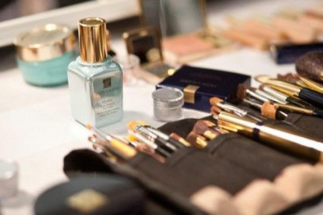 Makeup från Estée Lauder hos Derek Lam, A/W 2011.