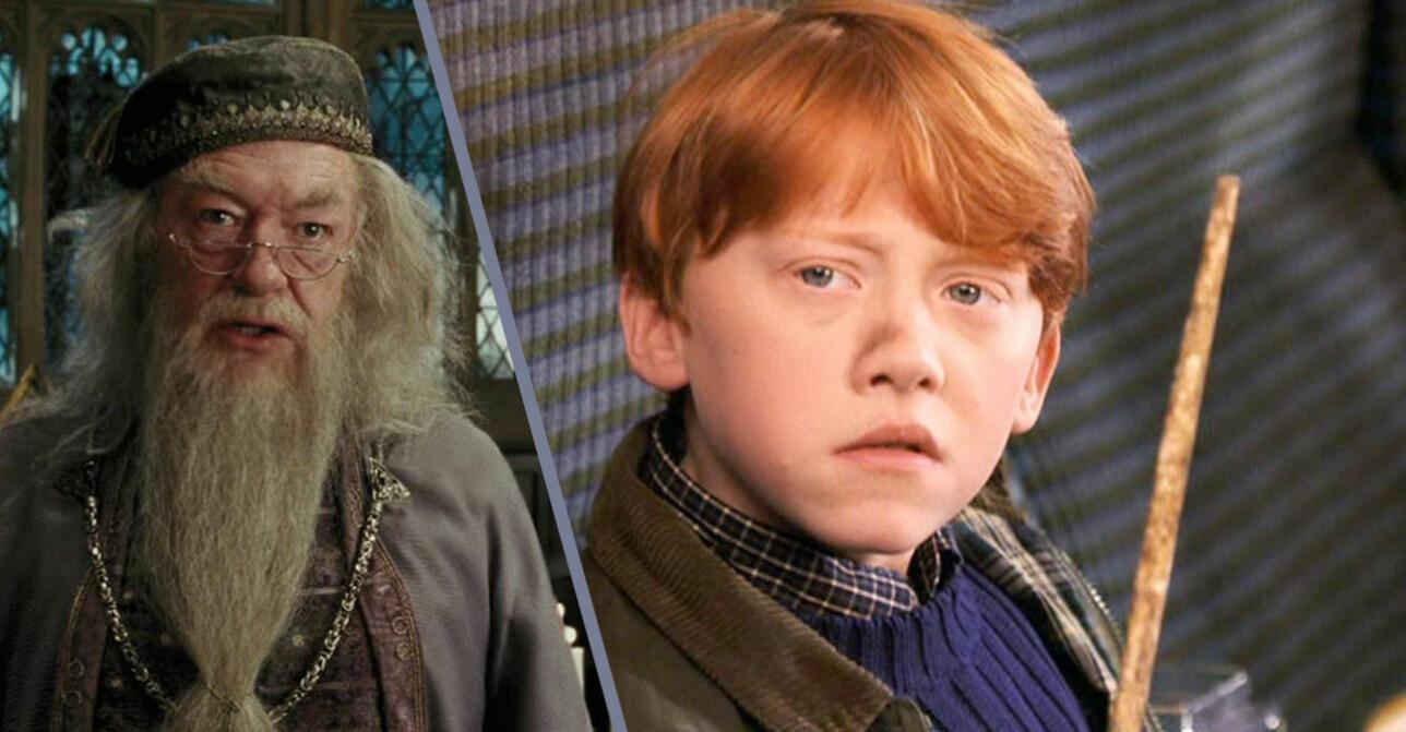 dumbledore och ron weasley