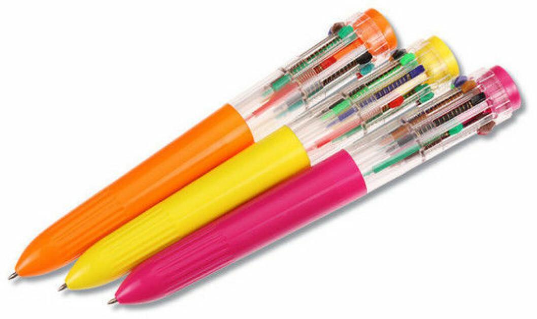 färgglad penna