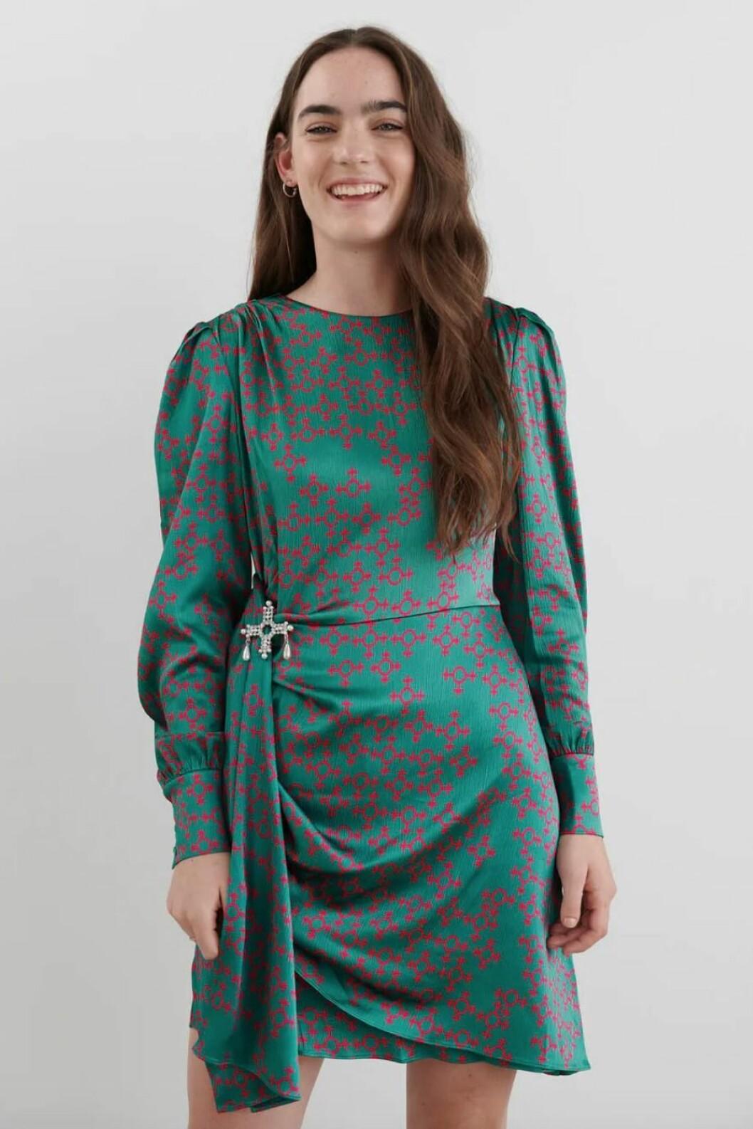 Festklänning i grönt för dam till 2019