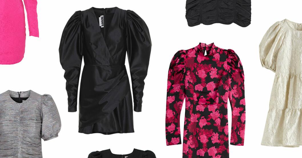 Festklänningar med puffärm till nyårsafton 2019