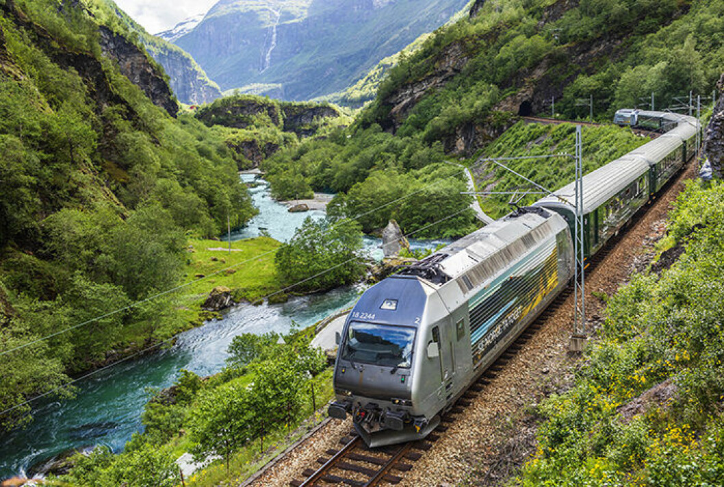 Flåmsbanan i Norge är en av världens vackraste tågrutter