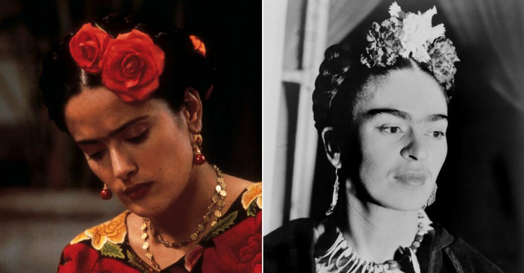 Salma Hayek som Frida Kahlo.