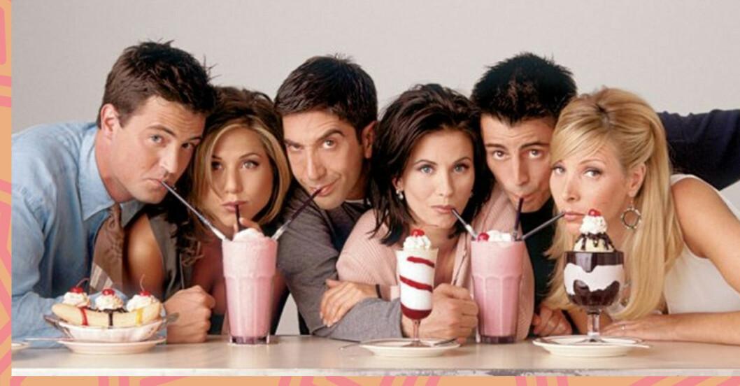Friends cast milkshake