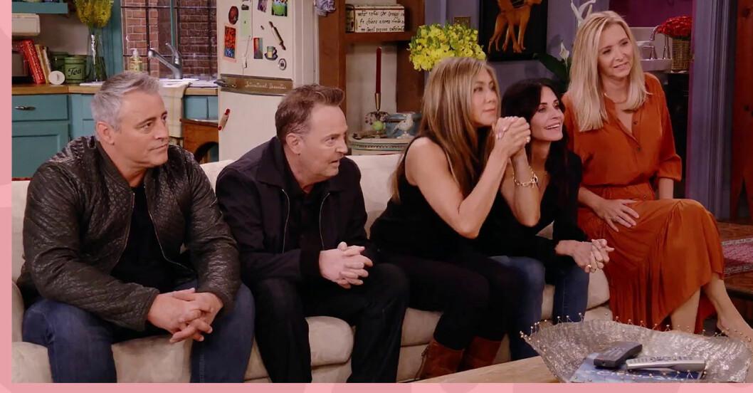 Courtney Cox, Matt LeBlanc, Matthew Perry, Liza Kudrow, David Schwimmer och Jennifer AnistonS